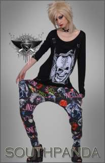 SL276 Punk Rock Gothic Universe Low Crotch Harem Pants