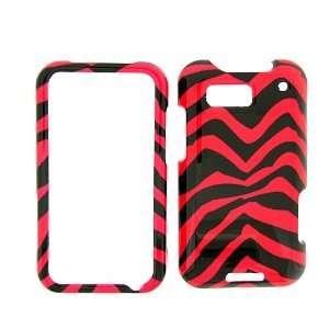 Motorola Defy MB525 T Mobile pink zebra Cover Case   Faceplate   Case