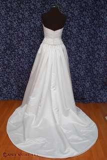 Pronovias Soft White Satin Strapless Wedding Dress 8