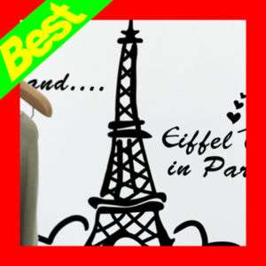 Eiffel Tower Wall Decals Window Stickers Mural decor