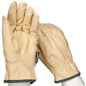 West Chester 9940KT Leather Glove, Shirred Elastic Wrist Cuff, 9.75