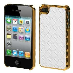 White Rose Gold Plating Weave Texture Alloy Executive Back