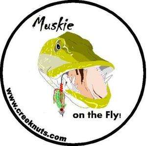 Fly Fishing Bumper Stickers MUSKIE ON THE FLY Musky