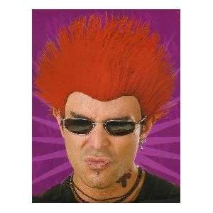 Wig Deluxe Red Spiked Punk Rock Sar Spike Halloween