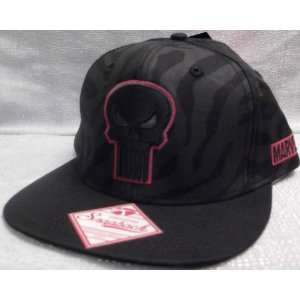 Marvel Comics PUNISHER Embroidered Snapback Flatbill Baseball CAP/ HAT