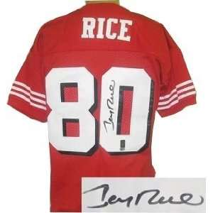 Jerry Rice Autographed/Hand Signed San Francisco 49ers Shadow # Jersey