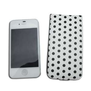 HK White with black POLKA DOTS Point Flip protective protector Hard