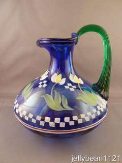 Bill Fenton Designer Showcase Cobalt Blue Pitcher