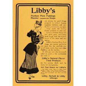 1902 Ad Libbys Plum Pudding Soup McNeill Grocery Food
