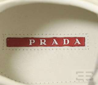 Prada Silver Grey Leather & Suede Lace Up Shoes Size 39