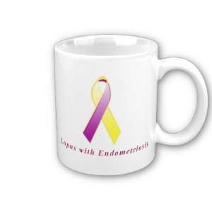 Lupus with Endometriosis Awareness Ribbon Coffee Mug