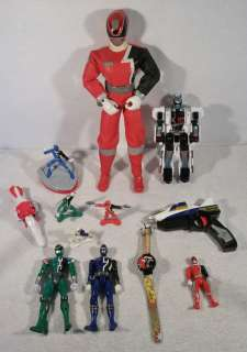 Large Lot of BANDAI POWER RANGERS SPD zords action figures toys B