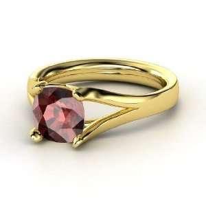 Enrapture Ring, Cushion Red Garnet 14K Yellow Gold Ring