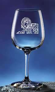 Personalized Portuguese Water Pet Dog Etched Wine Glass 12.75oz