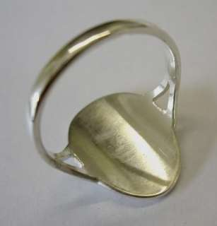 Hallmarked English Sterling Silver Engraved Oval Signet Ring Any Size