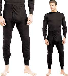 Polypropylene Black Underwear Long John Thermal Bottom Pants