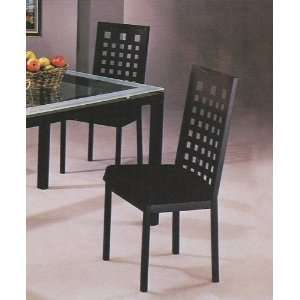 Modern Black Metal Frame Dining Room Chair/Chairs Furniture & Decor