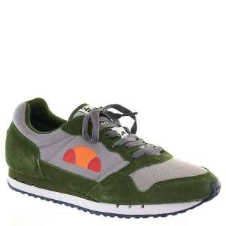 Ellesse Mens Athletic Sneakers Shoes Poli Gray/Green Nubuck