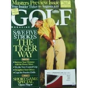 Golf Magazine April 2008 Tiger Woods
