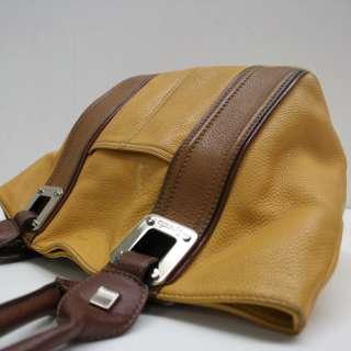 Tiganello Yellow & Brown Leather Handbag