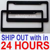 Matt Black Blank License Plate Frame custom Plastic frames cover gift