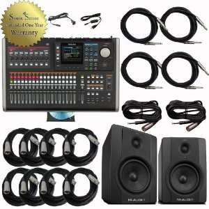 Tascam DP 24 Portastudio M Audio BX5D2 Bundle Electronics