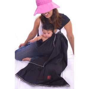 Baby Pique Sling Black Pique with Small Polka Dot Ribbon Edging Baby