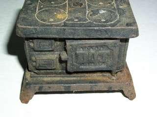 Vintage Cast Iron Cook Stove Bank, DOT