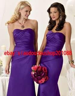 2012 New Bridesmaid dress Party dress Evening Cocktail Dress wedding