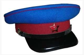 Communist NKVD KGB Red Army Uniform Peaked Forage Visor Hat Cap