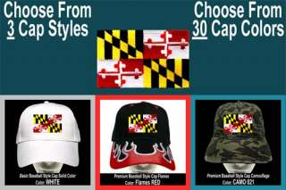 MARYLAND STATE FLAG Baseball CAP 3Styles 30Colors USA