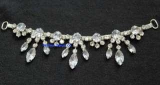 diamante rhinestone crystal bridal costume applique decoration silver