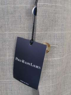Polo Blue Label Ralph Lauren Blazer Beige Gray Wool Blend 42L NWT $695