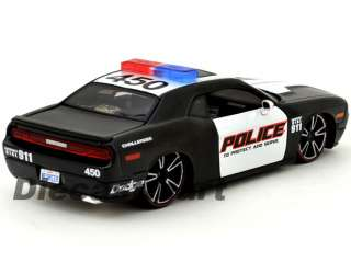 24 2010 DODGE CHALLENGER POLICE NEW DIECAST MODEL CAR BLACK / WHITE