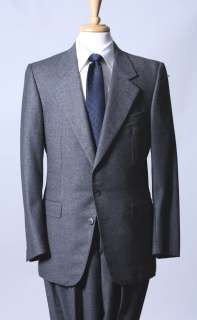 ALEXANDER JULIAN Gray Flannel Suit 38 Hand Made in Italy Zegna Bonus