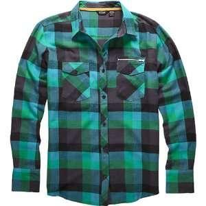 Fox Racing Foxalo Check Flannel Girls Long Sleeve Sports Wear Shirt w