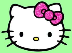 Hello Kitty PINK GLITTER BOW Car Window Stickers Decals