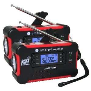 Ambient Weather WR 111 Emergency Solar Hand Crank AM/FM/NOAA