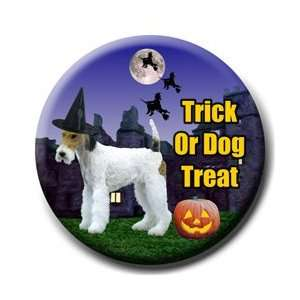 Wire Fox Terrier Halloween Pin Badge Button Everything