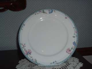 Oneida Fine Porcelain Blue Lattice Dinner Plate 10 1/4