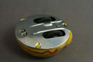 Vintage Metal Tin Litho Friction Wheel Toys Rabbit Bunny & Chick Made