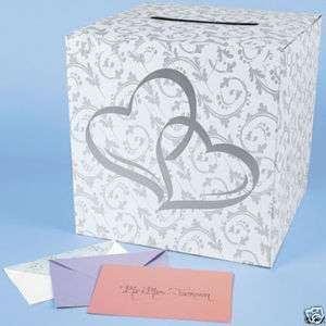 TWO HEARTS WEDDING CARD BOX (31785)
