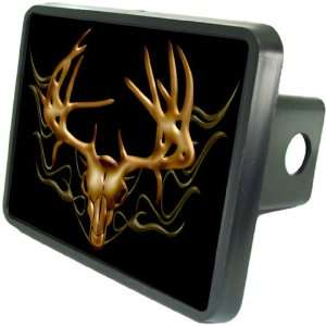 Deer Skull In Flames Custom Hitch Plug for 2 receiver from