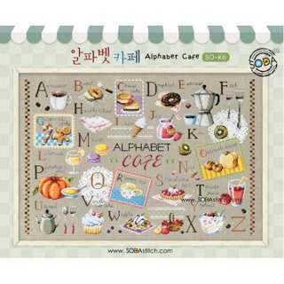 CROSS STITCH Leaflet Patterns Alphabet Cafe (SO K6)