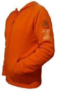 RLX by Ralph Lauren Mens Fleece Full Zip Hoodie in Orange