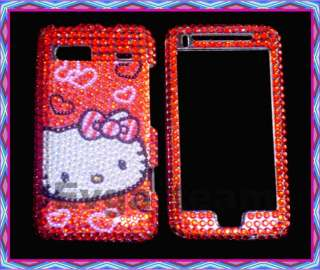Hello kitty Bling skin Case Cover F HTC T Mobile G2 RED