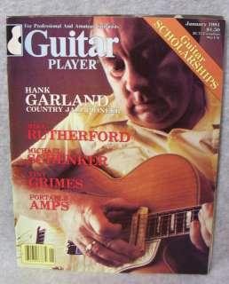 GUITAR PLAYER MAGAZINE   JANUARY 1981 (HANK GARLAND)