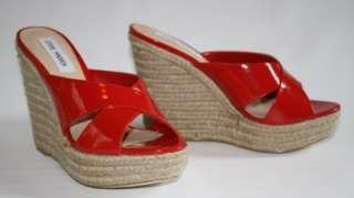 NIB Steve Madden GENISIS GENESIS Espadrille Wedge Sandal Heels Red
