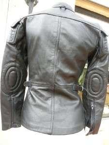 HEIN GERICKE BLACK LEATHER RACER MOTORCYCLE JACKET 32