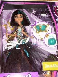 NIB 2012 Mattel MONSTER HIGH GHOULS RULE Mummy Doll CLEO DE NILE w